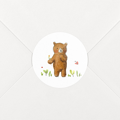 Bear family white baby stickers