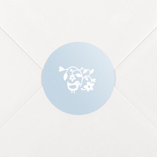Christening Stickers Pretty pastel blue - View 2