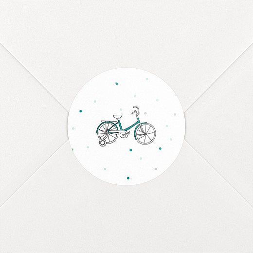 Christening Stickers Little bicycle green - View 2