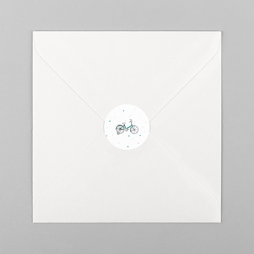Christening Stickers Little bicycle green - View 1