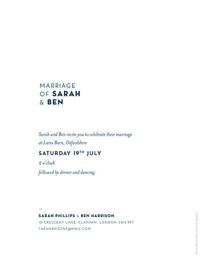 Wedding Invitations Laure de sagazan blue - Page 2
