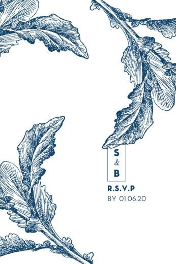 RSVP Cards Laure de sagazan blue