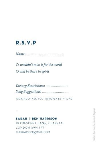 RSVP Cards Laure de sagazan blue - Page 2