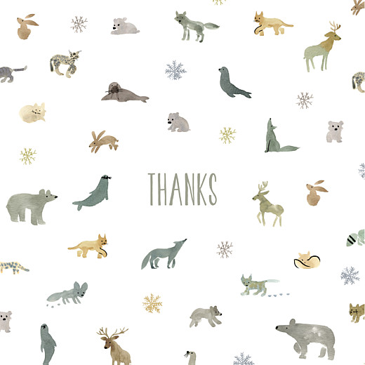 Baby Thank You Cards Tundra (4 pages) white