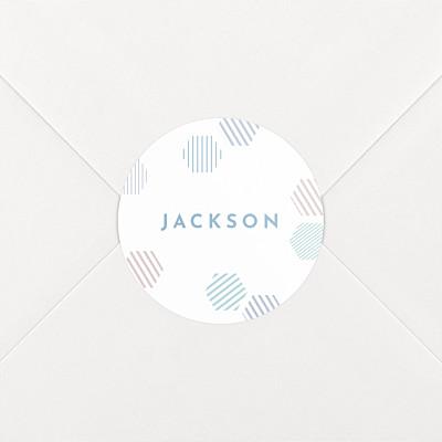 Hexagon blue baby stickers