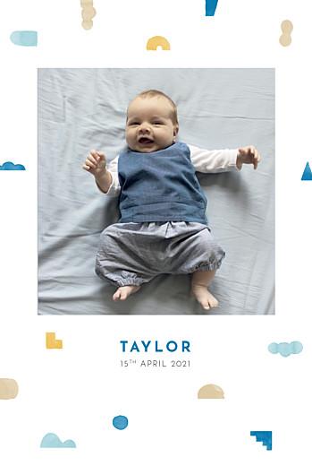 Baby Announcements Building blocks blue