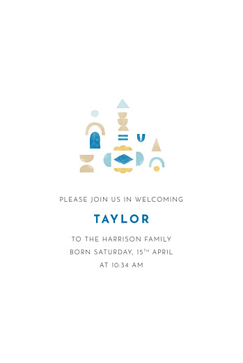 Baby Announcements Building blocks blue - Page 3