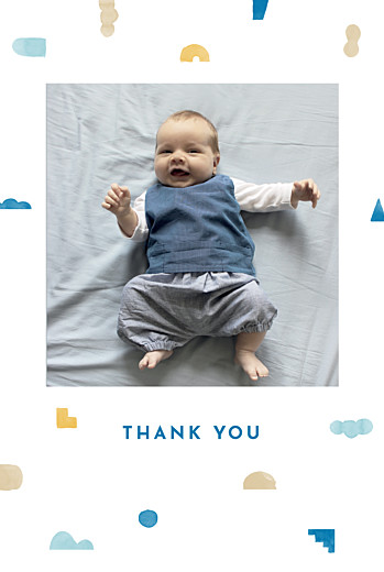 Baby Thank You Cards Building blocks blue