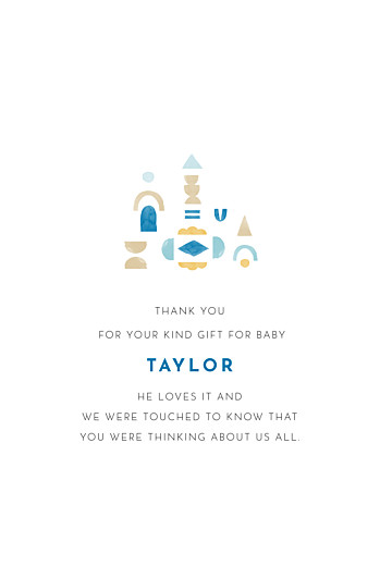 Baby Thank You Cards Building blocks blue - Page 3