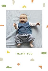Building blocks orange orange baby thank you cards
