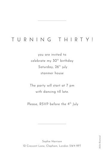 Birthday Invitations Foil frame white - Page 2