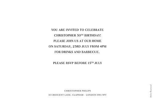 Birthday Invitations Modern photo landscape white - Page 2