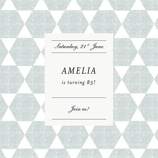 Birthday Invitations Lovely linen green