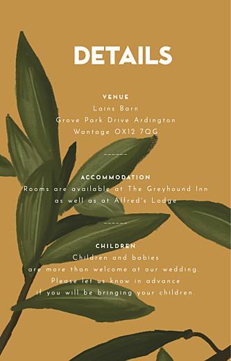 Guest Information Cards The botanist blue