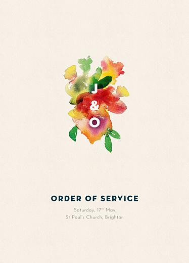 Wedding Order of Service Booklets Bloom beige
