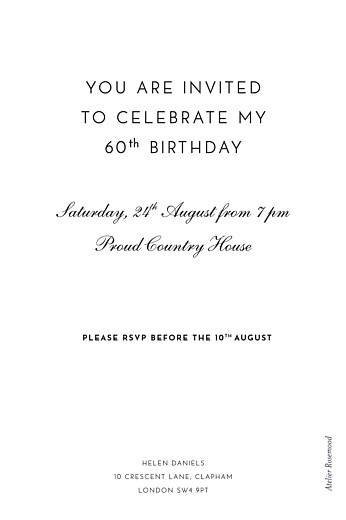 Birthday Invitations Secret garden white - Page 2