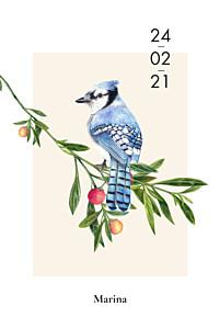 Flora & fauna white birthday invitations