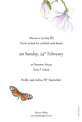 Birthday Invitations Flora & fauna white - Page 2