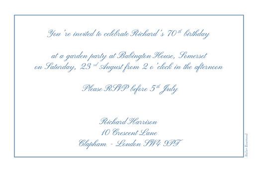 Birthday Invitations Chic border blue - Page 2