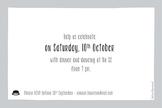 Birthday Invitations Bowtie grey - Page 2