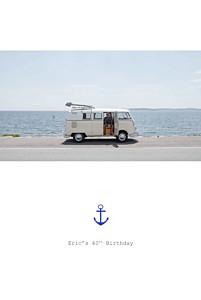 Nautical white birthday invitations