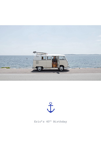 Birthday Invitations Nautical white