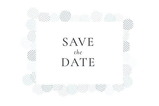 Save The Dates Sequins blue