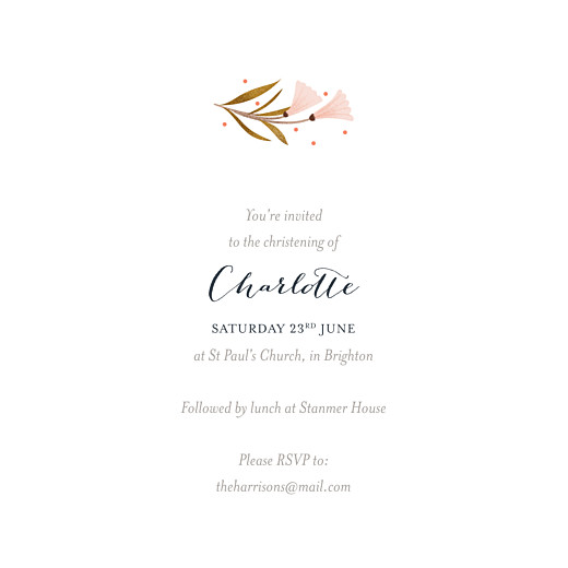Christening Invitations Daphné (4 pages) spring - Page 3
