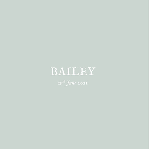 Baby Announcements Baby's breath (foil) green