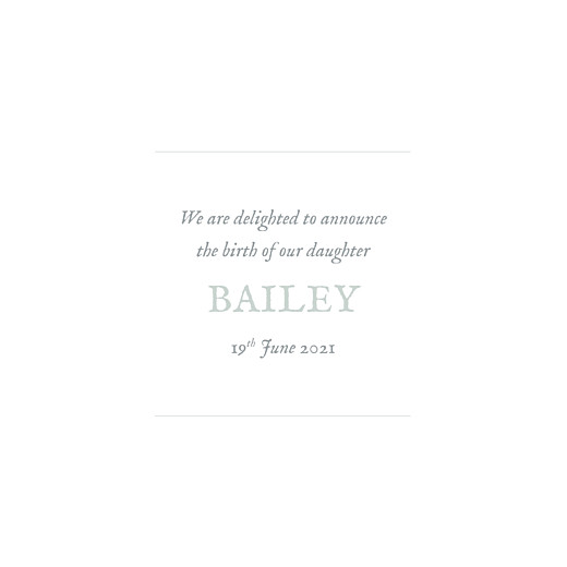 Baby Announcements Baby's breath (foil) green - Page 3