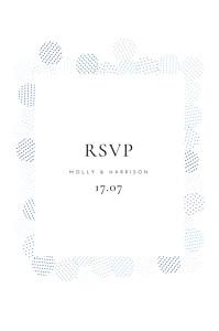 Sequins blue rsvp cards