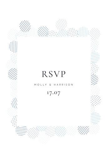 RSVP Cards Sequins blue
