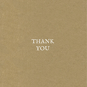 Baby's breath (foil) kraft brown baby thank you cards
