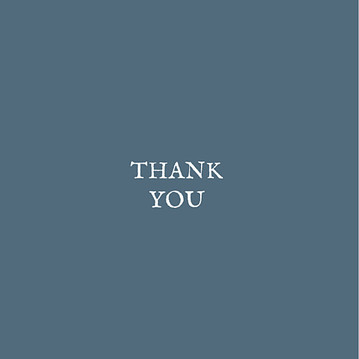 Baby Thank You Cards Baby's breath (foil) blue