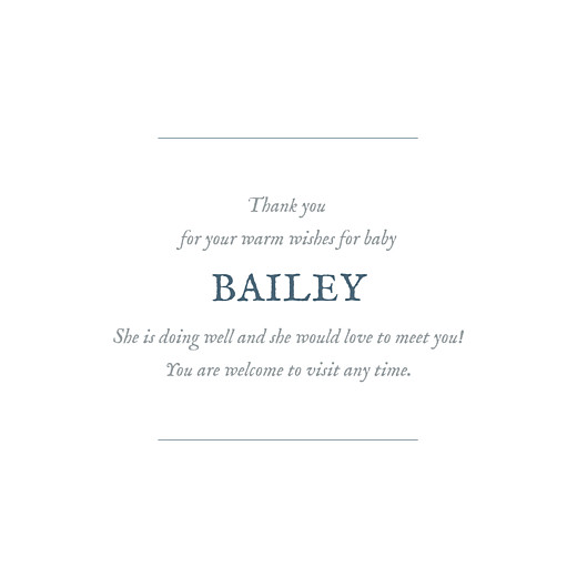 Baby Thank You Cards Baby's breath (foil) blue - Page 3