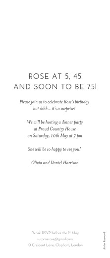 Birthday Invitations Panoramic (3 photos) white - Page 2
