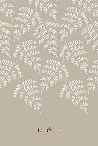 Forever ferns beige grey wedding invitations