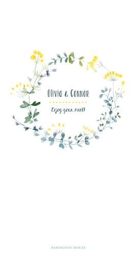Wedding Menus Watercolour meadow yellow