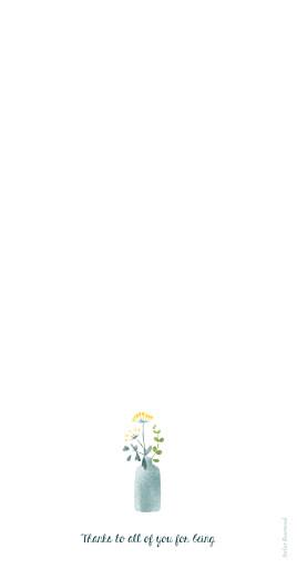 Wedding Menus Watercolour meadow yellow - Page 4