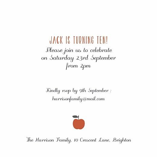 儿童派对邀请水果苹果 - 第3页