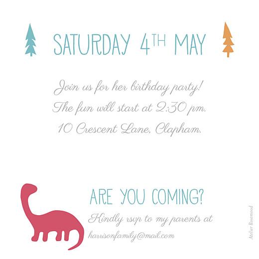 儿童派对邀请恐龙红色 - 第2页
