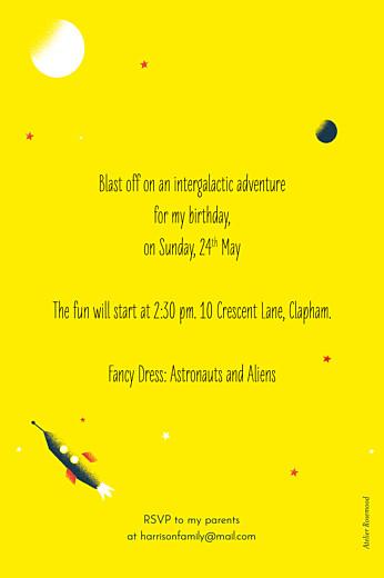 儿童派对邀请宇航员黄色 - 第2页