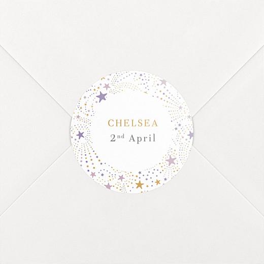 Christening Stickers Liberty stars purple - View 2