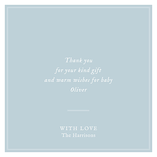 Baby Thank You Cards Medallion (4 pages) blue