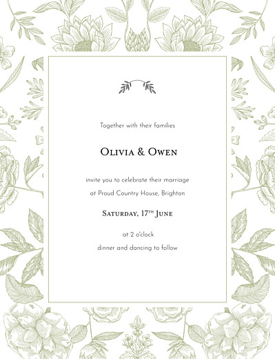 Wedding Invitations Springs eternal green