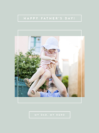 Small Posters Father's day green - Page 1