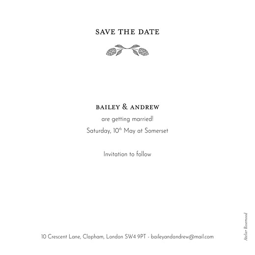 Save The Date Cards Springs eternal green - Page 2
