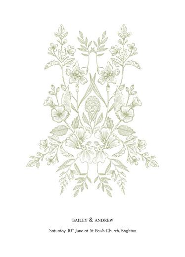 Wedding Order of Service Booklets Springs eternal green