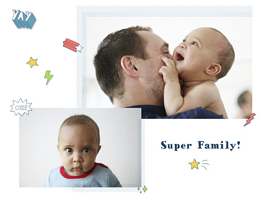 Small Posters Super family white - Page 1