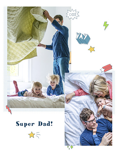 Small Posters Super family portrait white - Page 1